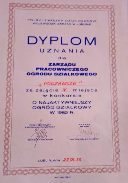 """Rodzinny Ogród Działkowy """"Podzamcze"""" - Lublin"""